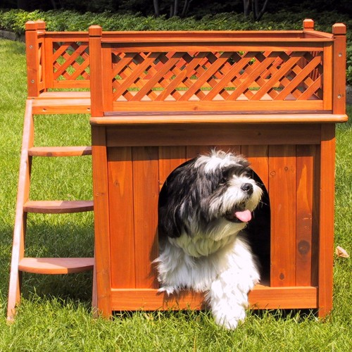 1 - Merry Products Wood Pet Home