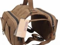 3 - Cotton Canvas Dog Backpack