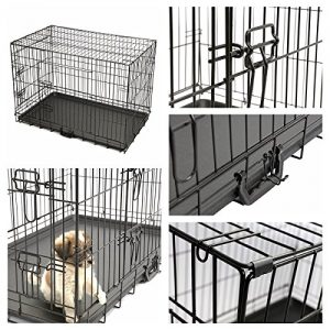 MagshionTravel Folding Metal Dog Crate