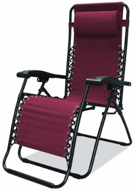 #1 Caravan Sports Infinity Zero Gravity Chair, Burgundy
