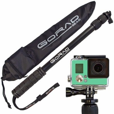 #1 GoRad Gear Waterproof Selfie Stick for GoPro Hero Cameras