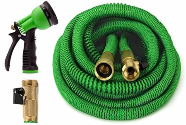ALL NEW 2020 Expandable Garden Hose 25 Feet with 8 Spray Pattern Nozzle