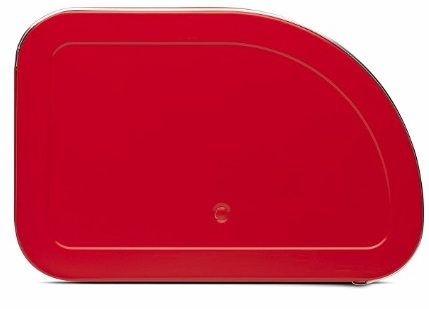2 - Brabantia Roll Top Breadbox, Stainless steel, Passion Red