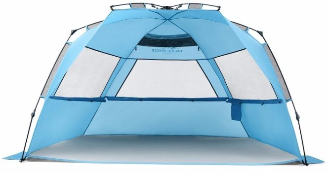 2 - Pacific Breeze Easy Up Beach Tent Deluxe XL
