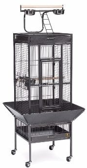 2 - Prevue Pet Products Wrought Iron Select Bird Cage Black Hammertone 3151BLK