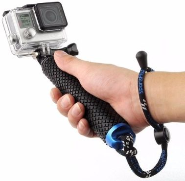#2 Vicdozia 19'' Waterproof Hand Grip Adjustable Extension Selfie Stick for GeekProGopro