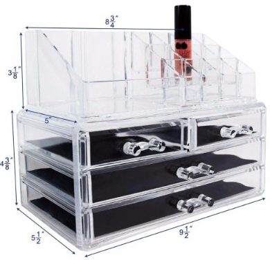 #3 Ikee Design Acrylic Jewelry & Cosmetic Storage Display Boxes
