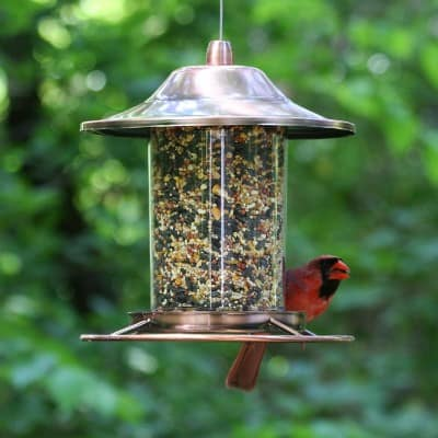 3 - Perky-Pet Copper Panorama Bird Feeder 312C