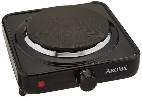 #4 Aroma Housewares AHP-303/CHP-303 Single Hot Plate, Black