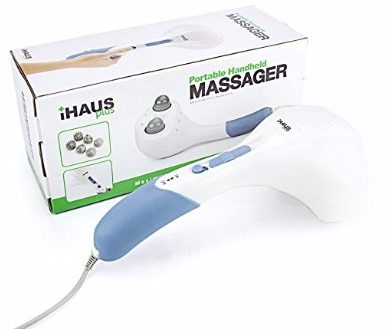 4 - Double Head Electric Massager Percussion Action Handheld Massager