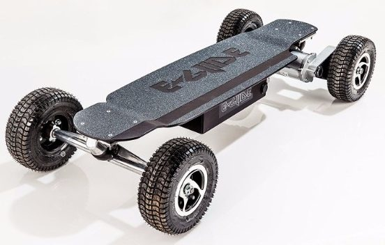 4 - GT Powerboard - Black Anodized Aluminum Off Road Electric Skateboard