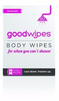 4 - GoodWipes Women's Deodorizing Body Biodegradable Wipes