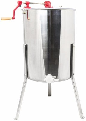 4 - VIVO Four 4 to Eight 8 Frame Stainless Steel Bee Honey Extractor