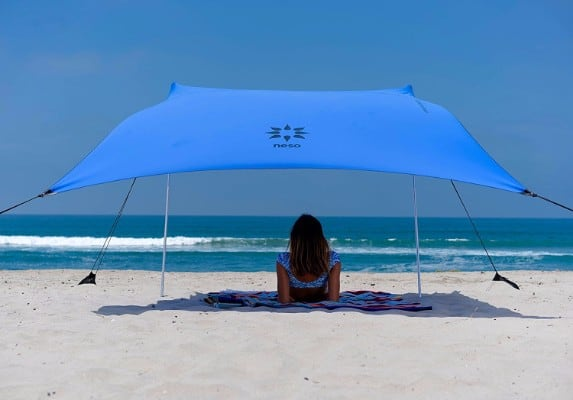 5 - Neso Tents Beach Tent with Sand Anchor, Portable Canopy Sun Shelter
