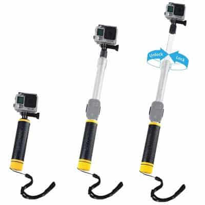 #5 Waterproof Telescopic Pole and Floating Hand Grip in one