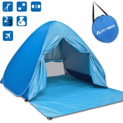 #6 AUGYMER Pop Up Beach Shelter Tent