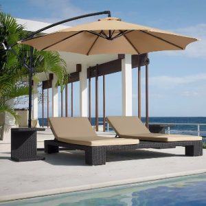 6 - Best Choice Products Patio Umbrella Offset 10' Hanging Umbrella Outdoor