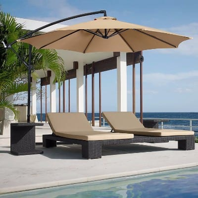 12 Best Choice Products Patio Umbrella Offset 10 Hanging Outdoor
