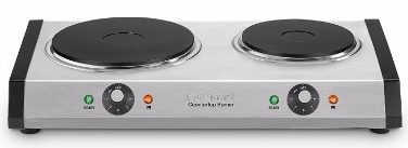#6 Cuisinart CB-60 Cast-Iron Double Burner, Stainless Steel