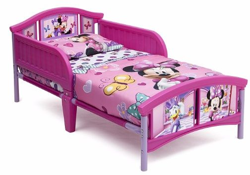 #6 Delta Children Plastic Toddler Bed, Disney Minnie Mouse