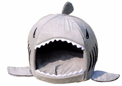 6 - Grey Shark Small Cat Bed