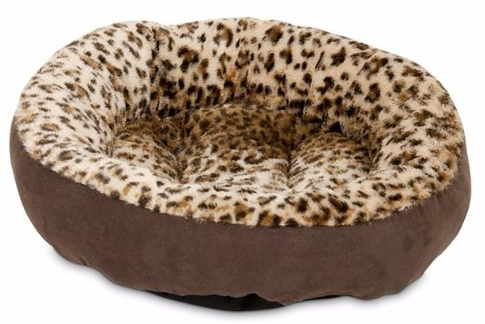 7 - Aspen Pet Round Bed Animal Print