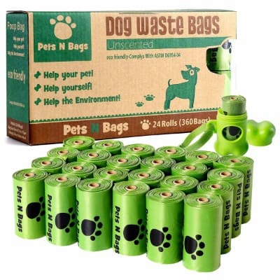 7 - Dog Poop Bags, Pets N Bags Earth Friendly Dog Waste Bags