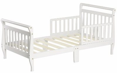 #7 Dream On Me Classic Sleigh Toddler Bed, White