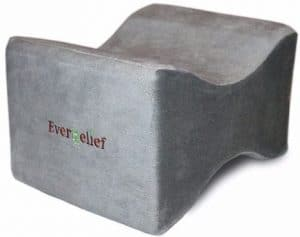 7 - Everrelief Knee Pillow for Back and Hip Pain Relief