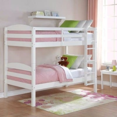 #7 Mainstays Twin over Twin Wood Bunk Bed