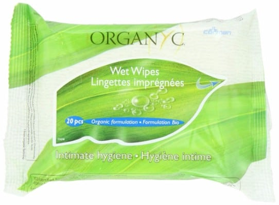 7 - ORGANYC 100% Organic Cotton Feminine Hygiene Wipes
