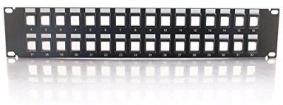 #9 C2GCables to Go 3860 32-Port Blank KeystoneMultimedia Patch Panel
