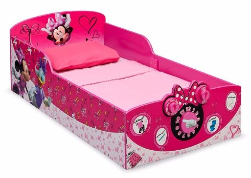 #9 Delta Children Interactive Wood Toddler Bed, Disney Minnie Mouse