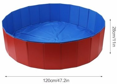 9 - Fuloon PVC Portable Foldable Dogs Cats Bathing Tub