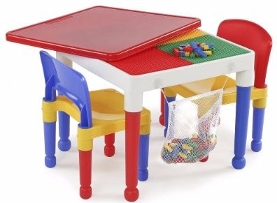#1 2-in-1 Kids Tot Tutors Construction Table W/chairs