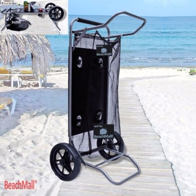 #10 Beach Cart with Folding Table Drink Holders