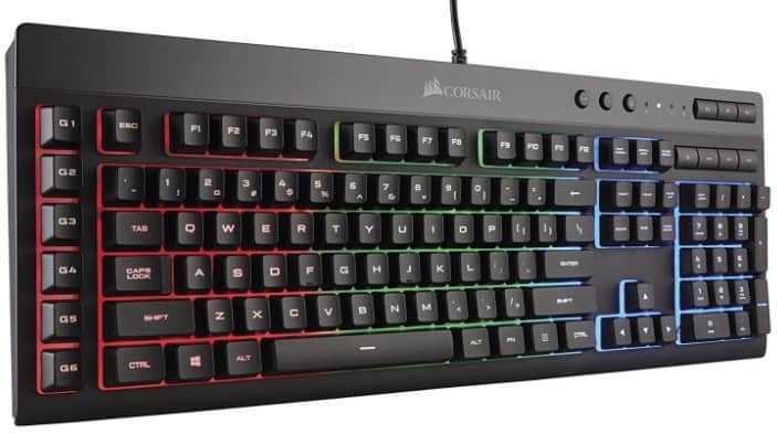 #2 Corsair Gaming K55 RGB Keyboard, Backlit RGB LED
