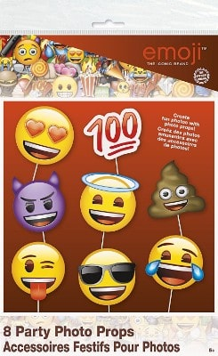 #3 Emoji Party Supplies - Emoji Faces Photo Booth Props