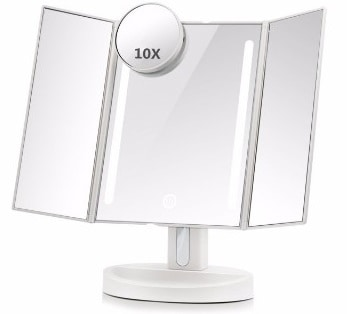 #4 ASSIS Led Lighted Makeup Mirror with 10X Magnifying