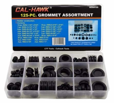 #4 Cal-Hawk AZGA125 Rubber Grommet Assortment Set Electrical Gasket