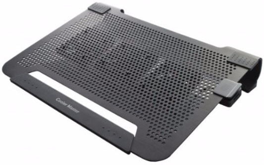 #4 Cooler Master NotePal U3 - Laptop Cooling Pad with 3 Movable Fans