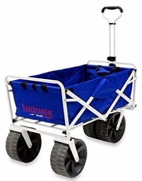 #4 Mac Sports Heavy Duty Collapsible Folding All Terrain Utility Beach Wagon Cart