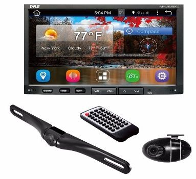#4 Premium 7In Double-DIN Android Car Stereo Receiver With Bluetooth and GPS Navigation