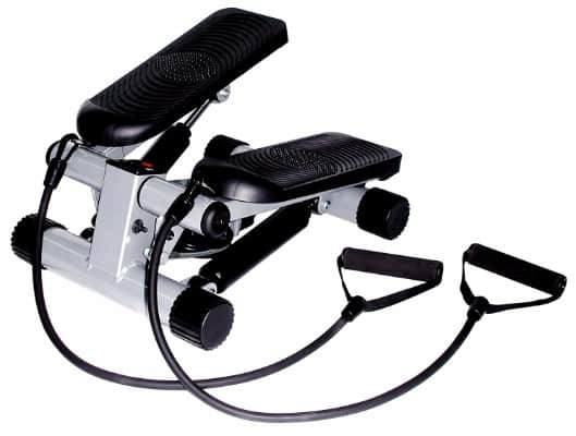 #3 Sunny Health & Fitness Mini Stepper with Resistance Bands