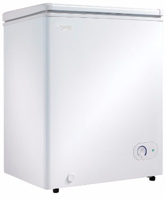 #5 Danby DCF038A1WDB1 Chest Freezer, 3.8 Cubic Feet