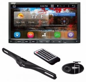 #5 Premium 7In Double-DIN Android Car Stereo Receiver With Bluetooth and GPS Navigation