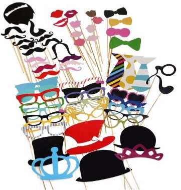 #5 Tinksky Photo Booth Props DIY Kit Dress-up Accessories