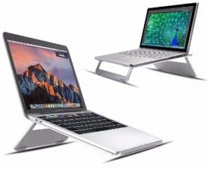 #5 Vogek Foldable and Portable Aluminum Laptop Stand