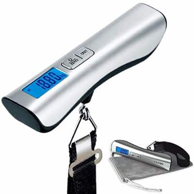 #6 Camry Luggage Scale 110 LBS Capacity Large and Blue Backlight LCD Display