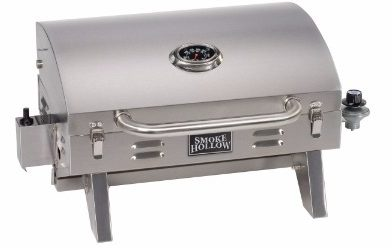 #7 Smoke Hollow 205 Stainless Steel, Portable Table Top Propane Gas Grill